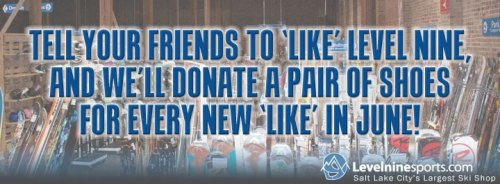 Likes us on Facebook to donate a pair of shoes!