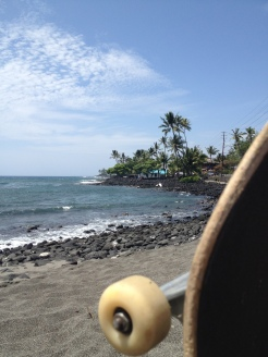 Surfing and skateboarding. Life's good.