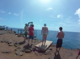 Some of the crew overlooking South Point.