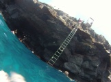 South point. The ladder out of the water.